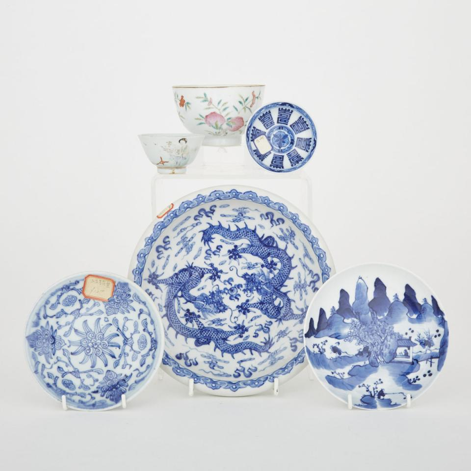 A Group of Six Porcelain Wares