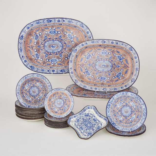 English Pearlware Part Service, early 19th century
