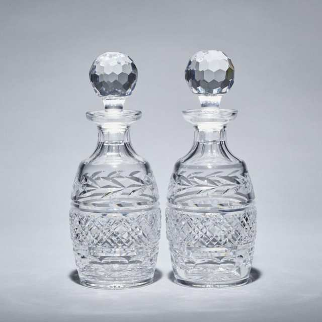 Pair of Waterford Cut Glass Decanters, 20th century