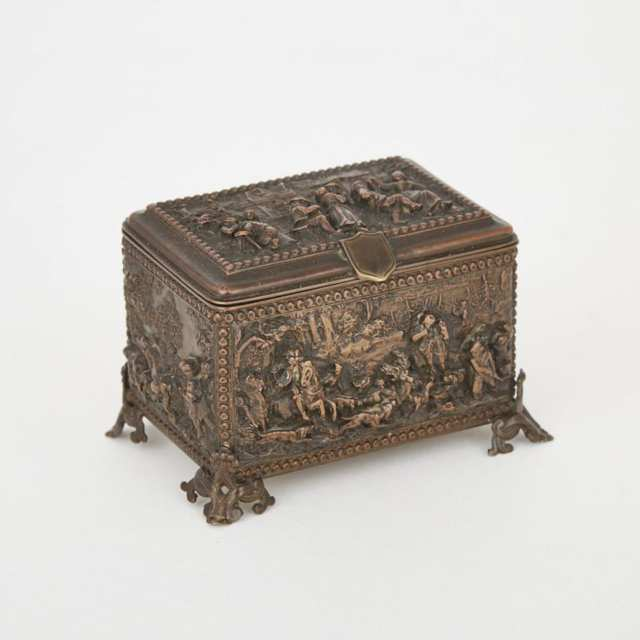 Napoleon III French Renaissance Style Bronze Dresser Box, late 19th century
