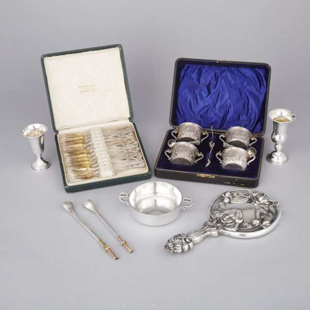Group of Mainly English and North American Silver, late 19th/20th century