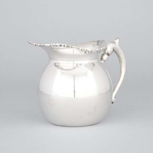 South American Silver Water Jug, probably Peruvian, 20th century