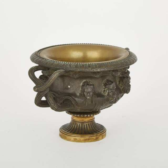 Grand Tour Gilt and Patinated Bronze Bronze Model of the Warwick Vase, mid 19th century