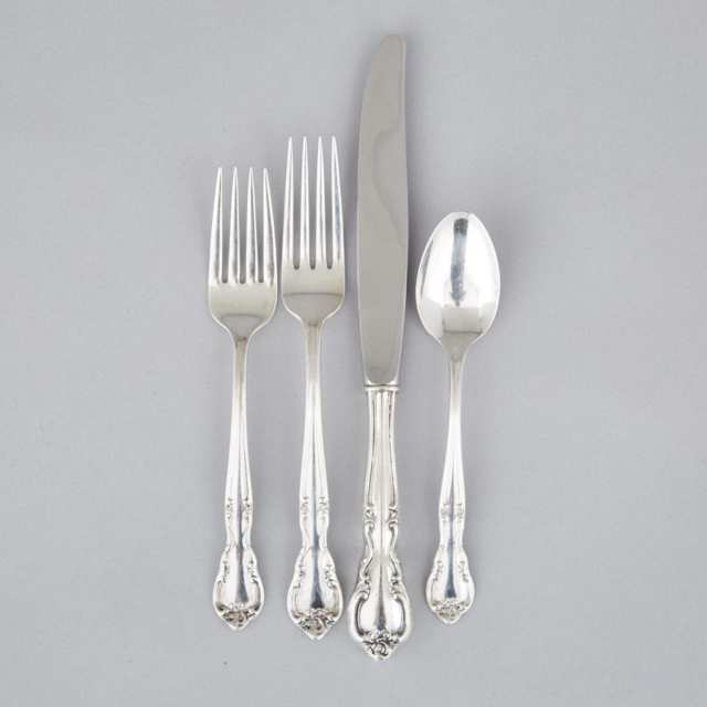 American Silver 'Canadian Classic' or 'American Classic' Pattern Flatware, Easterling Co.. Chicago, Ill., mid-20th century