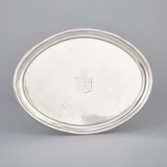 George III Silver Oval Salver, probably Thomas Hayter, London, 1805