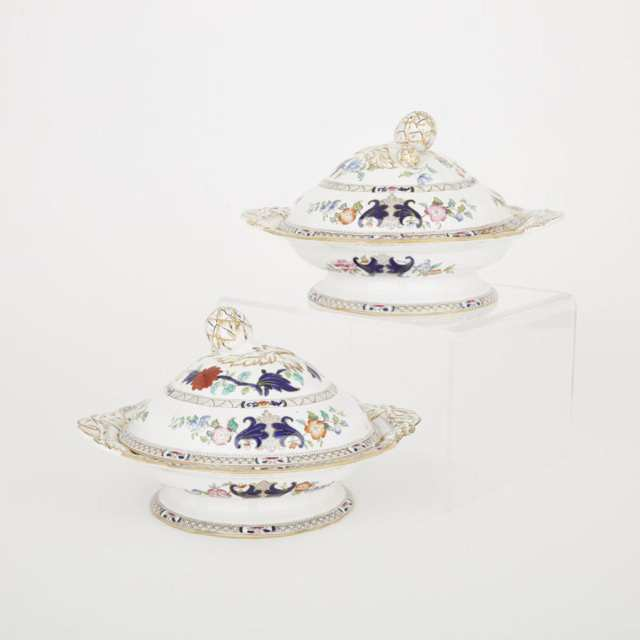Pair of Mintons Japan Style Covered Vegetable Dishes, c.1900