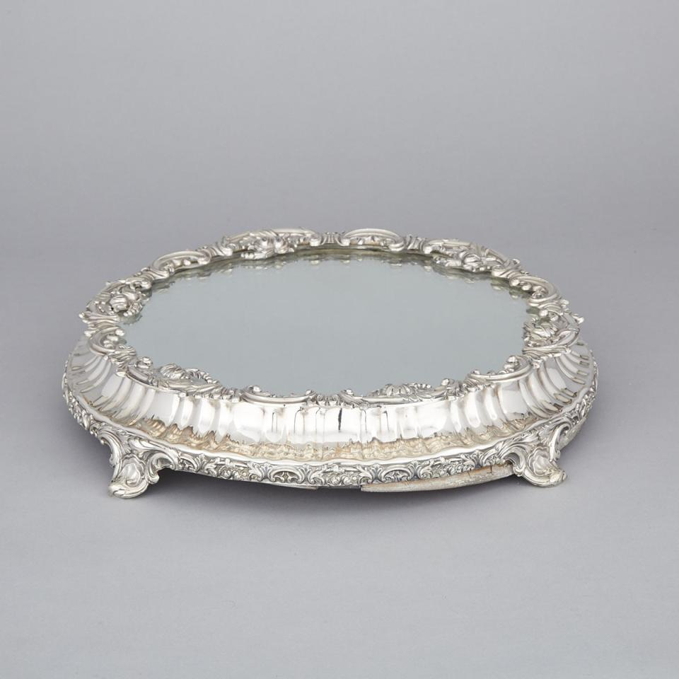 Victorian Silver Plated Mirror Plateau, late 19th century