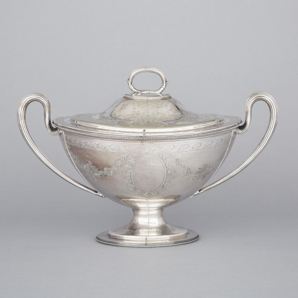 Victorian Silver Plated Covered Soup Tureen, Martin Hall & Co., late 19th century