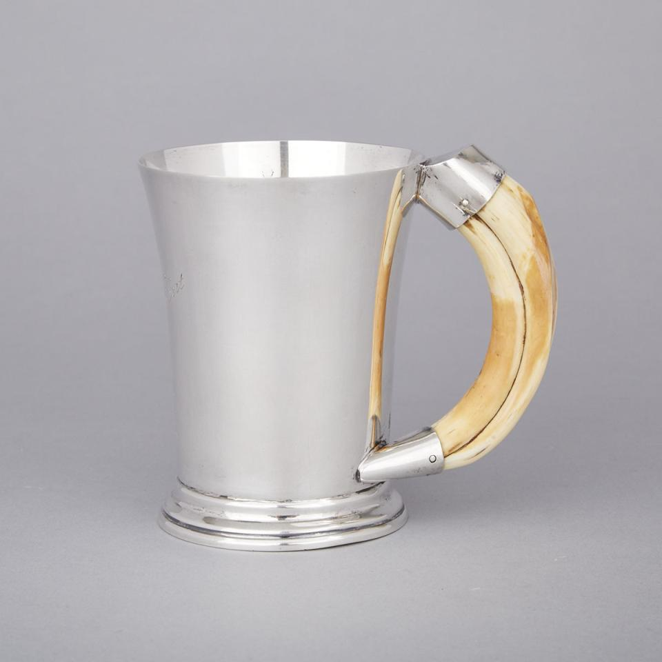 English Silver Mug, Hukin & Heath, Birmingham, 1944
