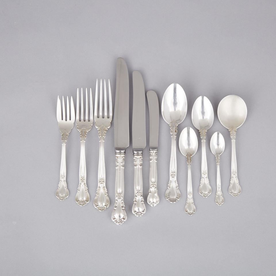 Canadian Silver 'Chantilly' Pattern Flatware Service, Henry Birks & Sons, Montreal, Que., 20th century