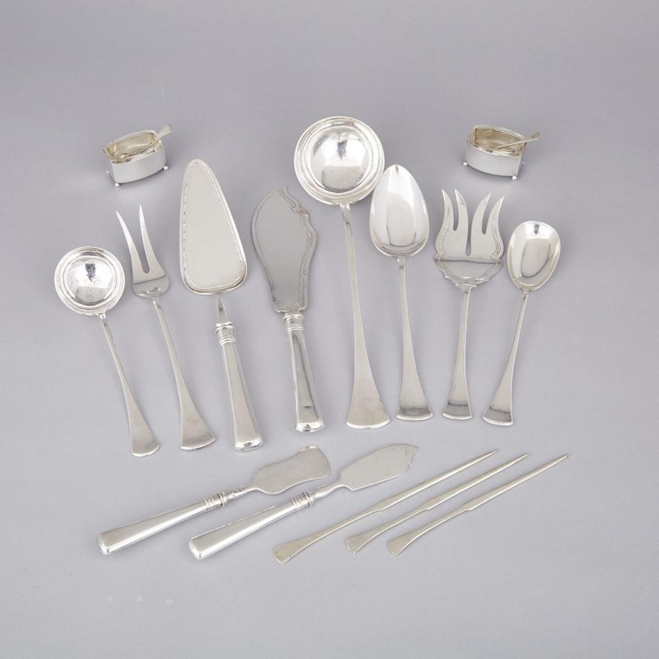 Group of Austro-Hungarian Silver Flatware, Prague, early 20th century