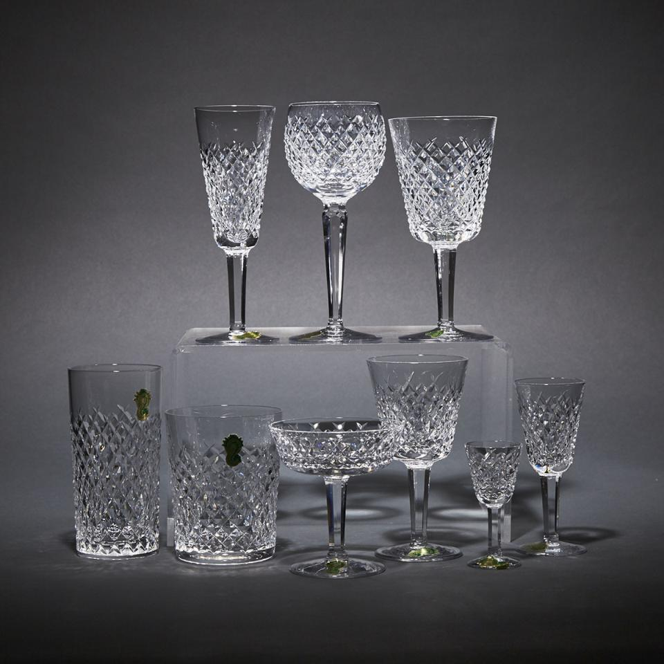 Waterford 'Alana' Pattern Cut Glass Stemware Service, 20th century