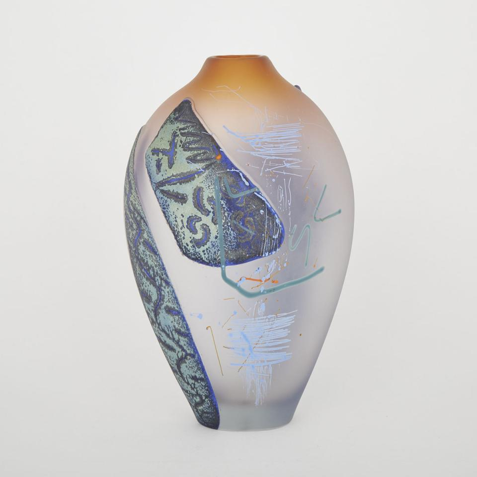 Jeff Goodman (Canadian, 1961-2012), Glass Vase, 1988