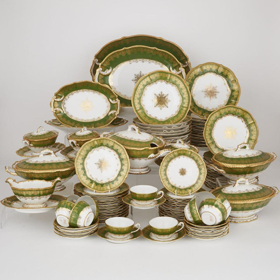 Elite Limoges Green and Gilt Decorated Service, early 20th century