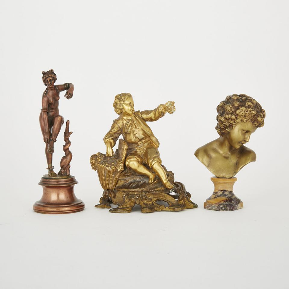 Three Metal Figural Decorations, 19th/early 20th century