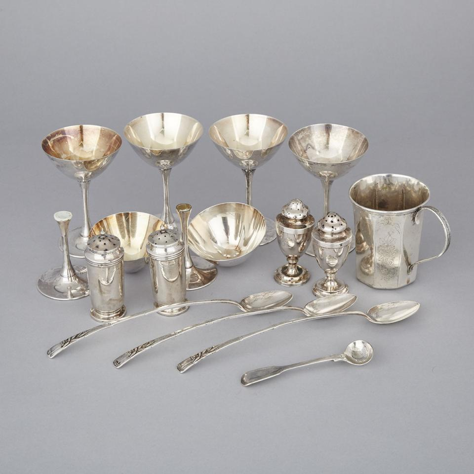Group of English, Continental and Japanese Silver, mainly 20th century