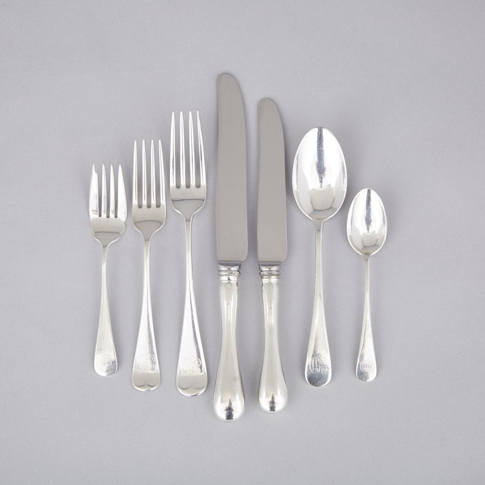 Canadian Silver 'Old English' Pattern Flatware Service, Henry Birks & Sons, Montreal, Que., 20th century