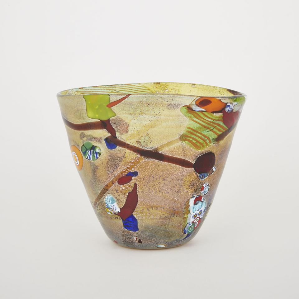 Murano Murrine Glass Vase, 20th century