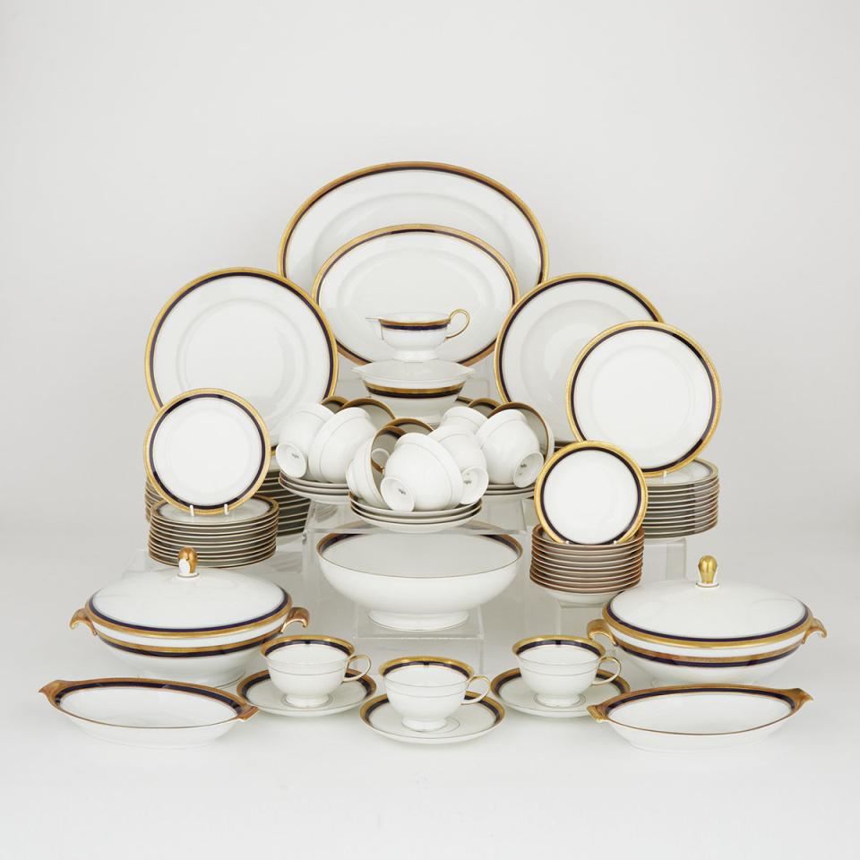 Rosenthal 'Continental' Blue and Gilt Decorated Service, 20th century