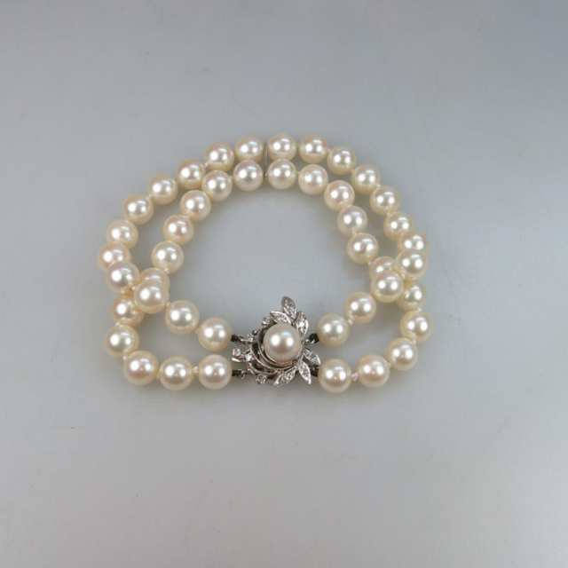 Birks Double Strand Cultured Pearl Bracelet