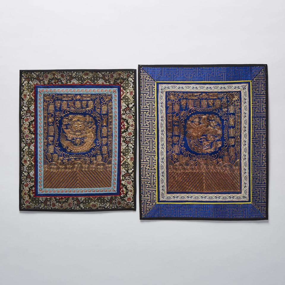 Two Embroidered Panels