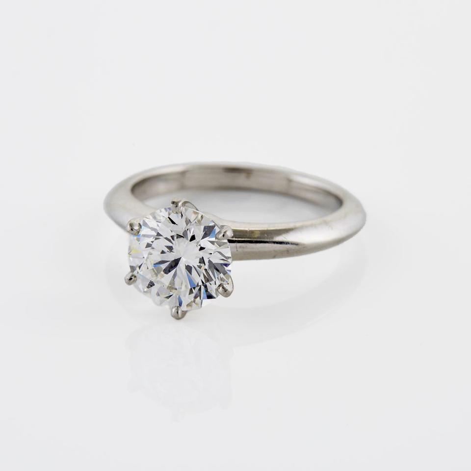 Tiffany & Co. Platinum Solitaire Ring