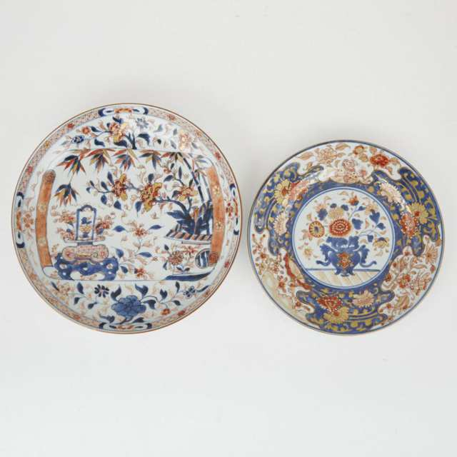 Two Chinese Export Imari Plates, Kangxi Period and Later