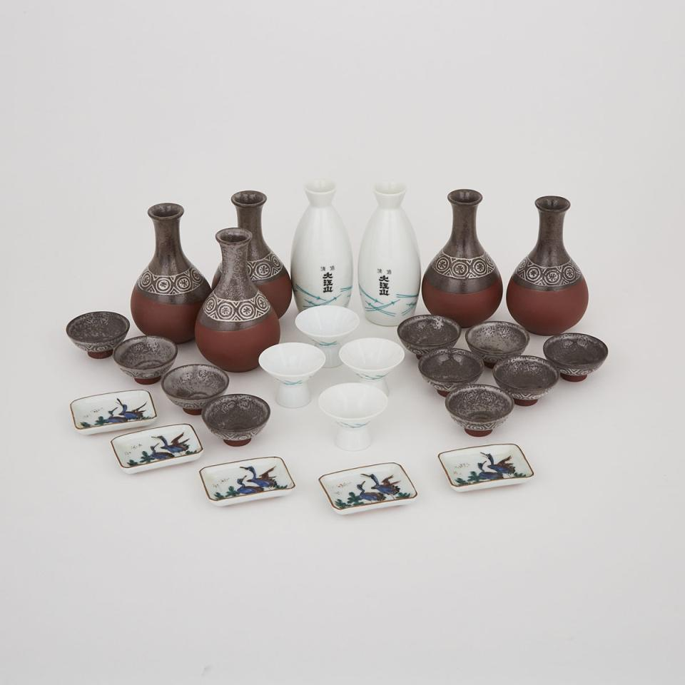 A Group of Twenty-Six Small Japanese Wares