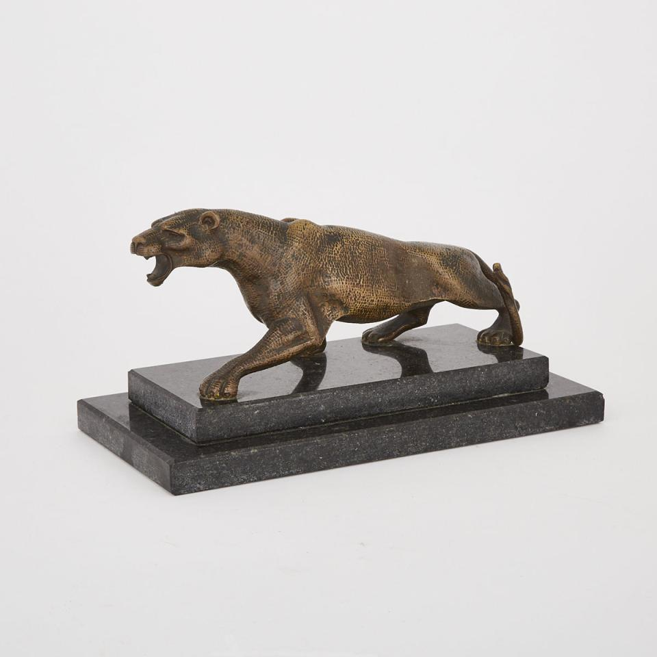A Bronze Model of a Jaguar