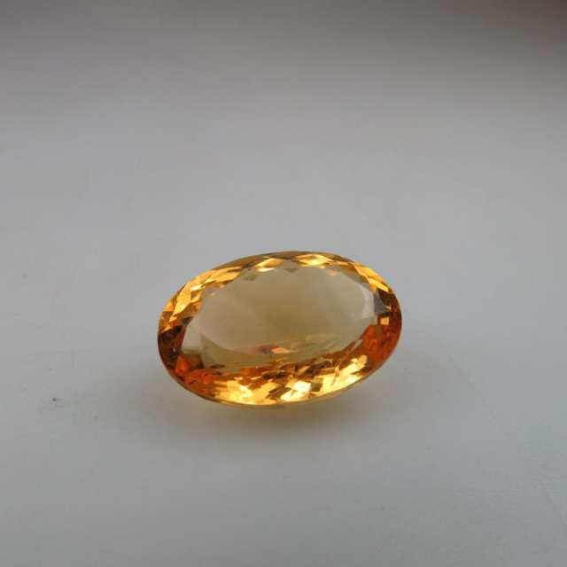 Oval cut citrine (12.97ct.)