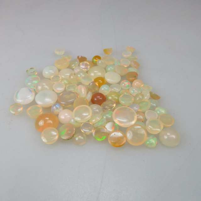 Parcel of Round Opal Cabochons (27.88ct.t.w.)