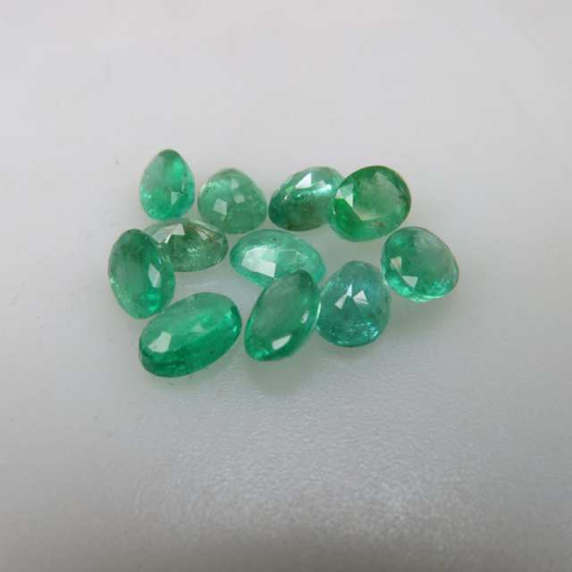 Parcel of Oval Cut Emeralds (8.20ct.t.w.)