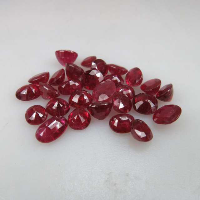 Parcel of Facetted Glass Filled Ruby (34.73ct.t.w.)
