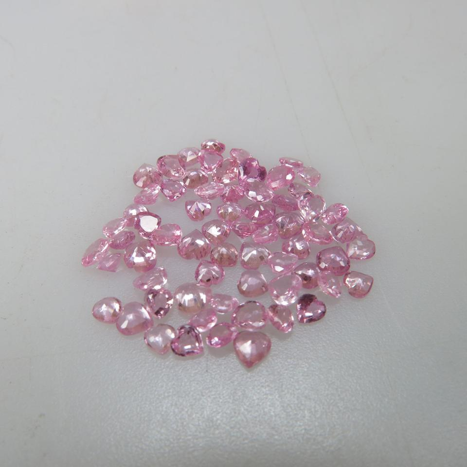 Parcel of Heart Shapes Pink Sapphires (10.00ct.t.w.)