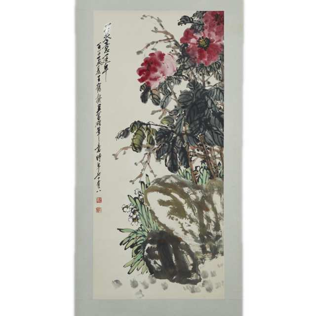After Wu Changshuo 吳昌碩, Flowers Painting