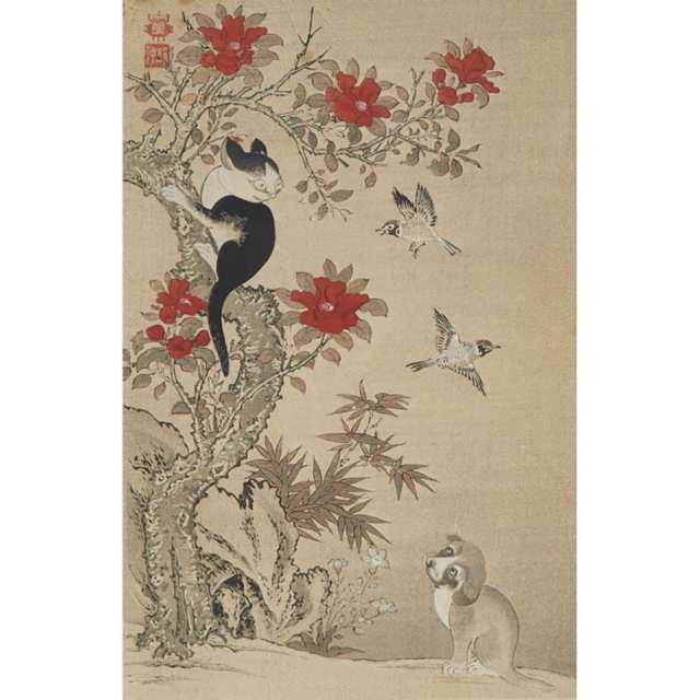 A Group of Five Japanese Woodblock Prints