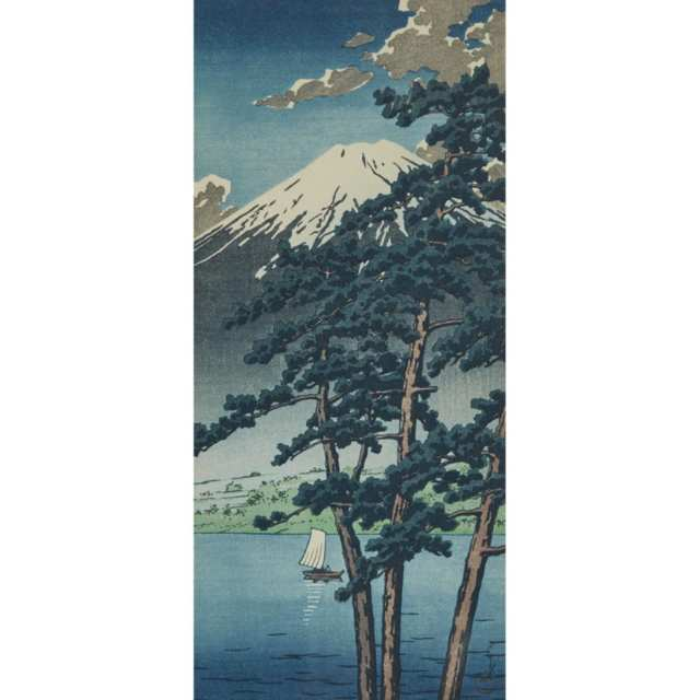 Two Woodblock Prints, 20th Century