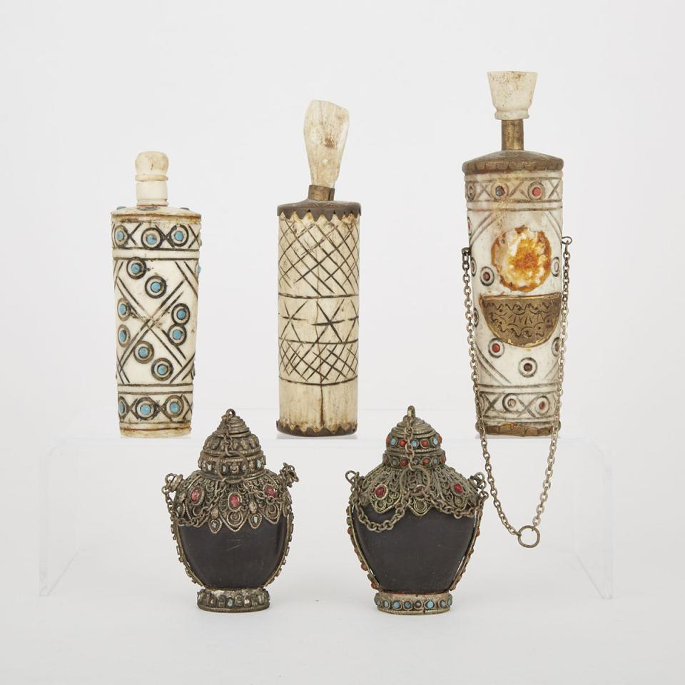 A Group of Five Southeast Asian Snuff Bottles