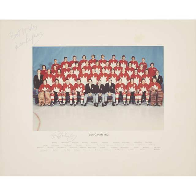 Summit Series, Team Canada Autographed Official Group Portrait, 1972