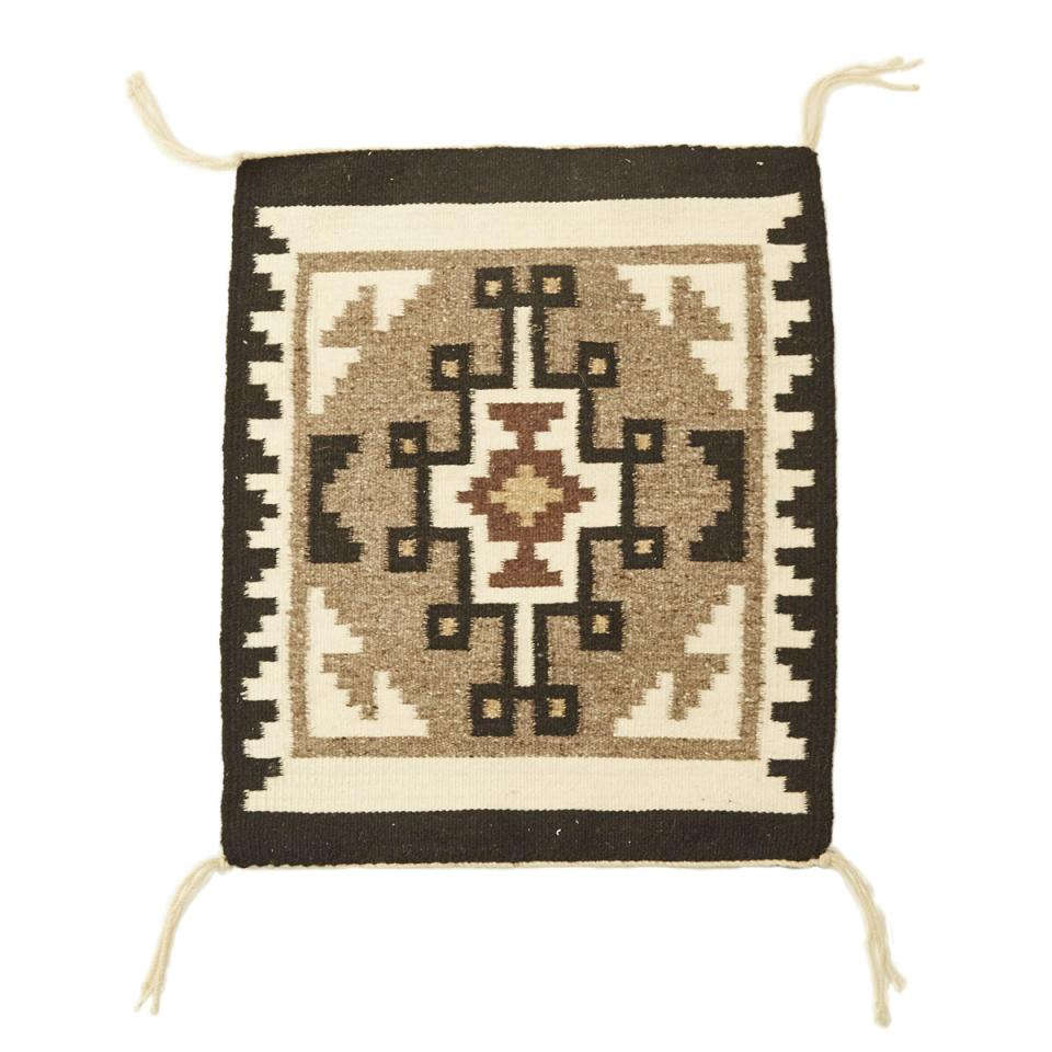 Two Grey Hills Navajo Mat, 20th cetury
