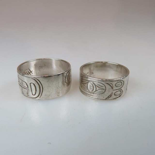 Two Haida Sterling Silver Rings