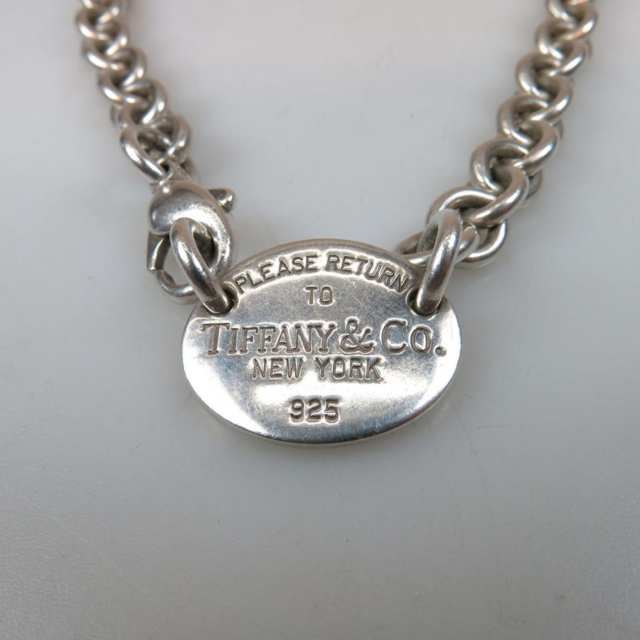 Tiffany & Co. Sterling Silver Circular Link I.D. Necklace