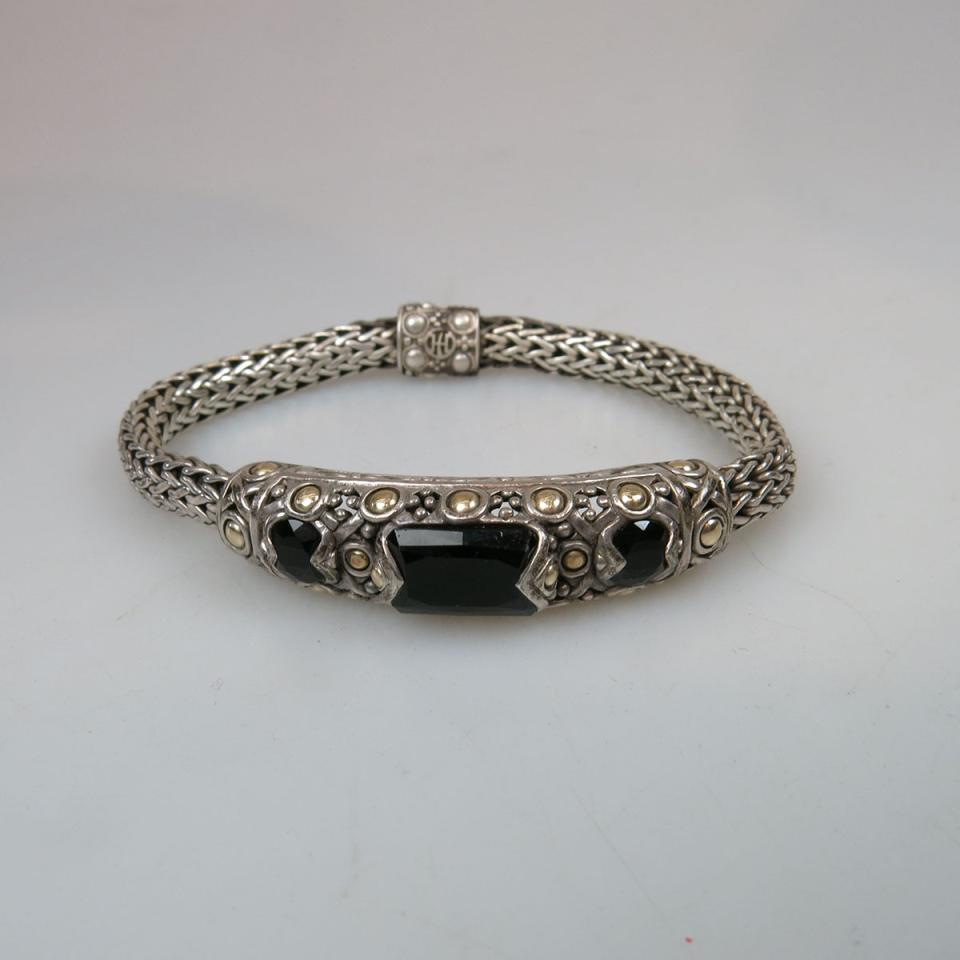 John Hardy American Sterling Silver And 18k Yellow Gold Bracelet