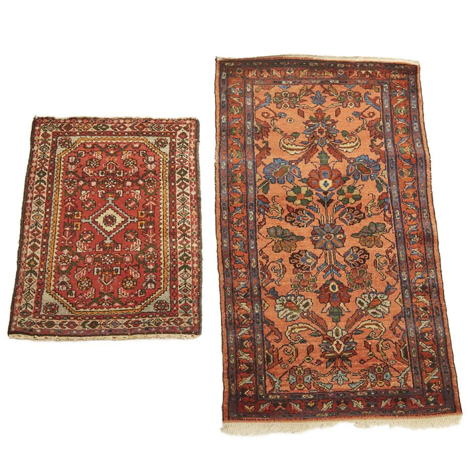Lilihan Rug, Persian c.1940 together with a Hamadan Rug, Persian, mid 20th century
