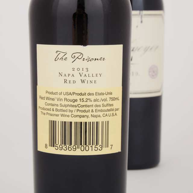 PAHLMEYER MERLOT 2010 (1) THE PRISONER WINE COMPANY THE PRISONER 2013 (1)
