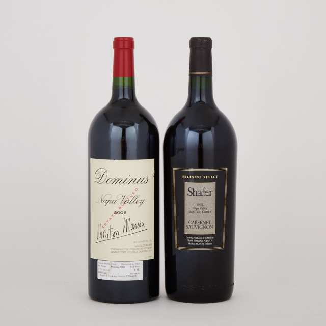 DOMINUS ESTATE 2006 (1 MAG.) WA 96 SHAFER CABERNET SAUVIGNON HILLSIDE SELECT 1992 (1 MAG.) WA 95