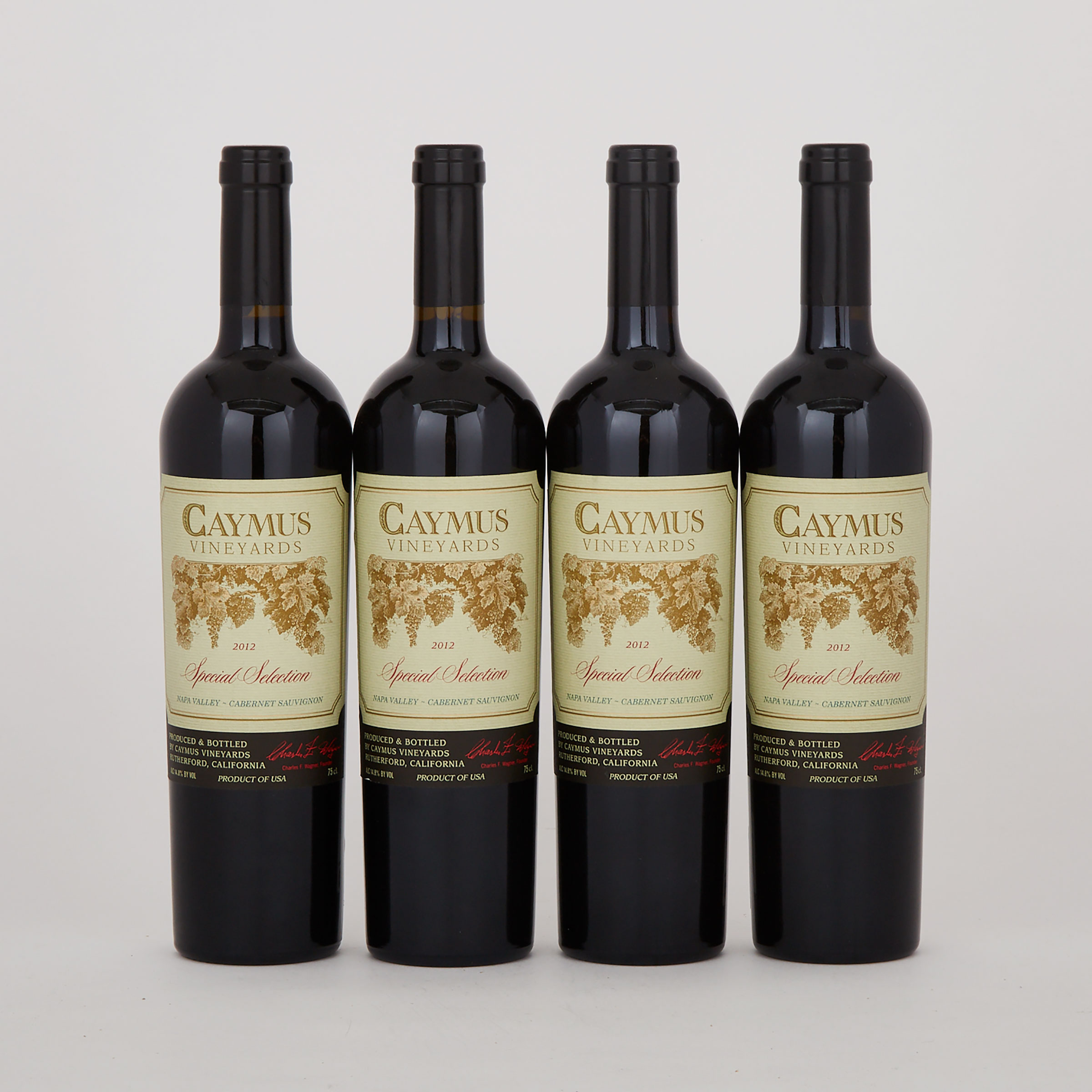 CAYMUS VINEYARDS CABERNET SAUVIGNON SPECIAL SELECTION 2012 (4) WA 96