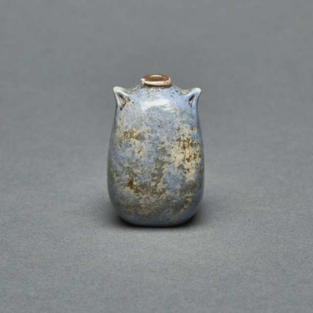 Martin Brothers Stoneware Miniature Two-Handled Vase, 1906