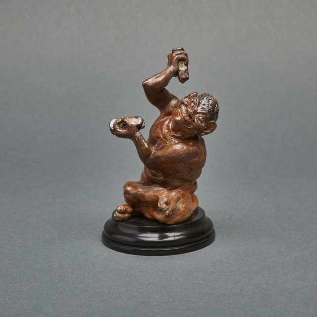 Martin Brothers Stoneware Imp Musician Playing Clackers, c.1906-10