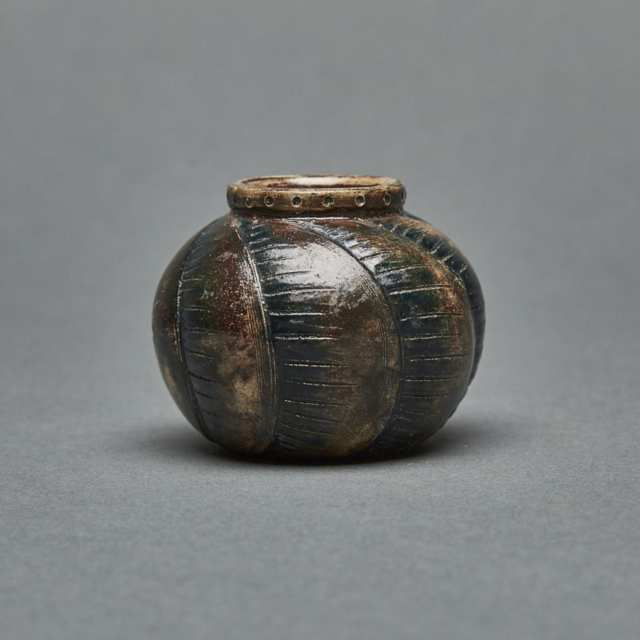 Martin Brothers Stoneware Miniature Gourd Vase, early 20th century